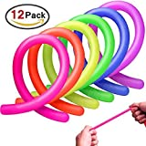 Homder 12 Pack Colorful Sensory Fidget Stretch Toys Helps Reduce Fidgeting Due to Stress and Anxiety...
