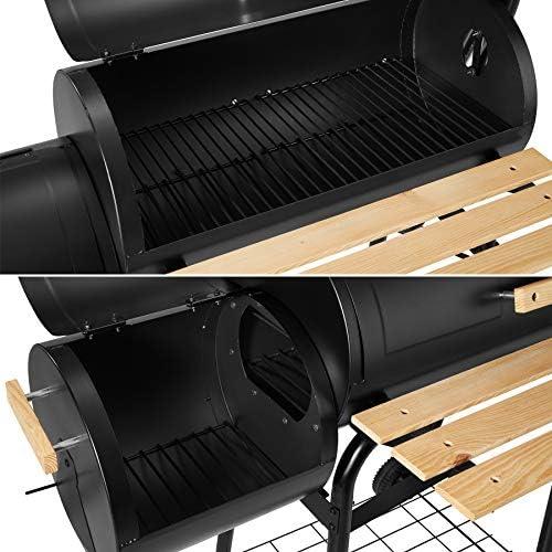 TecTake BBQ GRILL BARBECUE CHARBON DE BOIS FUMOIR SMOKER - diverses tailles au choix - (BBQ Barbecue au charbon/Fumer   No. 400821)