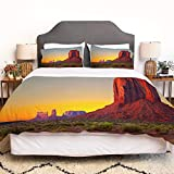 SIOCNYE Bettbezug-Bettwäsche,Sunset in Famous Grand Canyon Archaic Natural Wonders of World Heritage,Mikrofaser-1 Bettdecke-Bettlaken 240×260CM und 2 Kissenbezüge 50×80CM