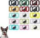 Mini Localizador De Rastreo GPS para Gatos/Perros, 2 Piezas, Funda Protectora De Silicona para Mascotas para Apple Air_Tags, Collar para Perros Y Gatos, Localizador (C)
