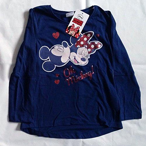 T-shirt manche longue disney minnie en coton 4 ans