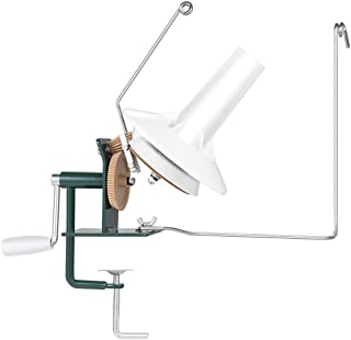 [HOUSWEETY] かせくり器 玉巻き器 ワインダー ウールワインダー ホルダー 毛糸だま 編み物キット 鉄製 (ホワイトとグリーン)