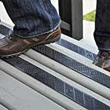 """GripStrip Stair Treads L 32""""x W 2"""" Screw Down Strip, No Adhesive All Weather Non-Slip, Plastic Safety Stair Strips Increase Safety on Slippery Stairs - Screws Included (8 Pack) (Black)"""