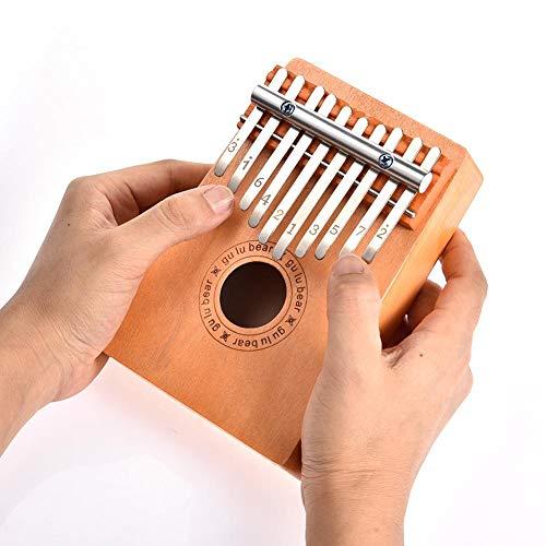 Welltobuy Kalimba Piano de pulgar de 10 teclas, portátil, pulgar de dedo piano, dedo pulgar piano marimba, regalo musical Kalimba para niños principiantes