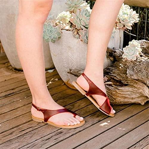 Corrector ortopédico de juanetes para mujer, suela plana, hebilla, zapatos de playa, zapatillas con punta abierta, antideslizantes, resistentes al desgaste para interiores y exteriores, chanclas