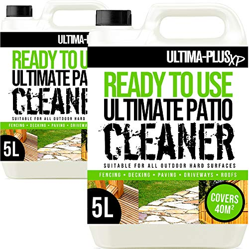 Ultima-Plus XP Ready to Use Ultimate Patio Cleaner Perfect for Patios, Fencing and Decking to Deeply Clean - Easy to Use Fluid (10 Litres)