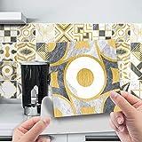 20 adhesivos para azulejos de cocina y baño, varios adhesivos para azulejos de pared de 10 x 10 cm, lámina decorativa para azulejos de cocina y baño (10 cm x 10 cm)