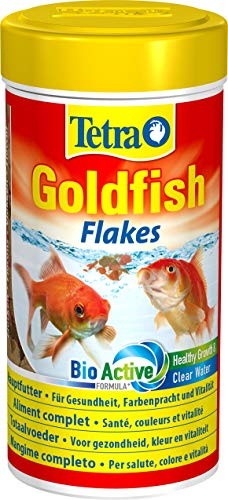Tetra Goldfish Flakes Mangime in Fiocchi, Mangime per Pesci per Tutti i Pesci Rossi e Altri Pesci d'Acqua Fredda - 250 ml