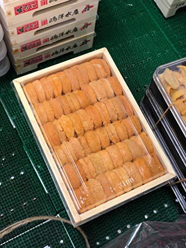 上ウニ 並び 北海道・北方四島産 バフンウニ 赤ウニ 約200-250g 弁当箱【赤ウニ並びx1】冷蔵