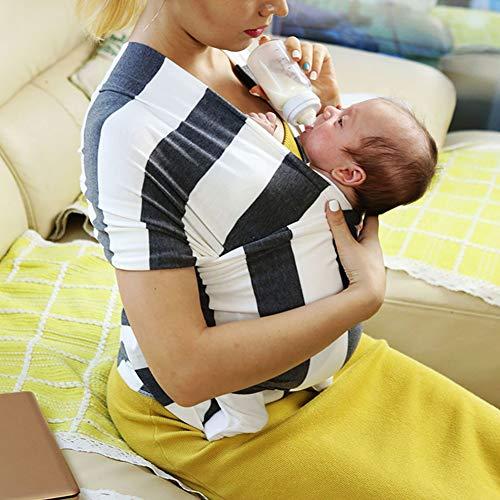 Streifen Baby Tragetuch Baumwolle Babywickelträger Neugeborene Bis 20 Kg 95% Baumwolle 5% Elasthan Baby Wrap Ideal Für Babypartys - Einheitsgröße