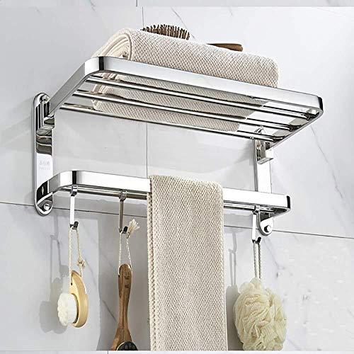 DY Toalleros Marco de acero inoxidable toalla tocador baño estante Punch-libre de rack estante del estante de artículos de tocador Colocación cosmética de almacenamiento en rack Especificaciones opcio