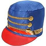 donna majorette Cappelli SCHIACCIANOCI Accessorio Vestito Natale giocattolo soldato cappello disponibile in multipli di X1 - X3 - X6 - x 12 - X24 - Blu, PACK OF 1
