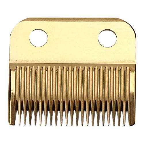 Elektrische haartrimmer, Akozon 2 kleuren Professionele elektrische tondeuse Mes Tondeuse Metalen vervangende snijkop Gereedschap Scheren voor mannen Verzorgingsset(Goud)