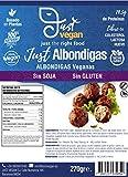 JUST VEGAN | ALBÓNDIGA VEGANAS Sin SOJA | Sin GLUTEN | 100% Vegetal | Plant Based | Vegano | 270g