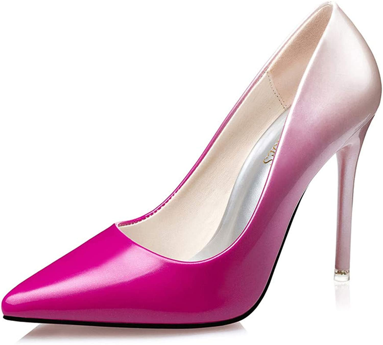 High Heels Women Pumps shoes 10 cm Pointed Toe Stiletto Sexy Prom Club Heels,Pink,38