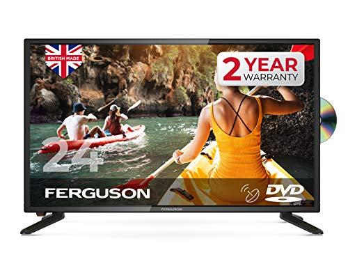 "Ferguson F2420FS 24"" HD Ready LED Digital TV with Built-in DVD Player & Satellite Tuner, Black"