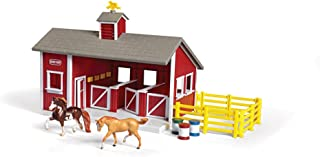 Breyer Stablemates Red Stable and Horse Set