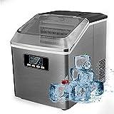 qwertyuio Ice Lollies Makers Ice Makers - Panel De Control Automático De Acero Inoxidable Con Pantalla Lcd Independiente, Autolimpieza Para Hacer Hielo, Tanque De 2 L