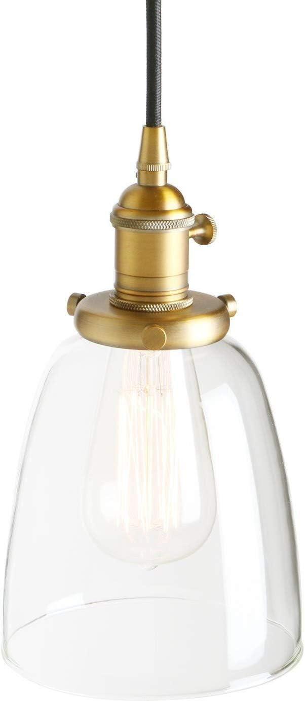 Iluminación Colgante Vintage industrial moderna Edison colgantes de techo colgante LB artefacto de iluminación Loft Bar Cocina iluminación de la lámpara decorativa con sombra ligera campana de cristal