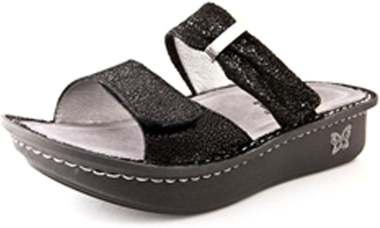 Alegria Woherrar Karmän svart Metallic Metallic Metallic Fun Sandals (Style no KAR -237)  2018 butik