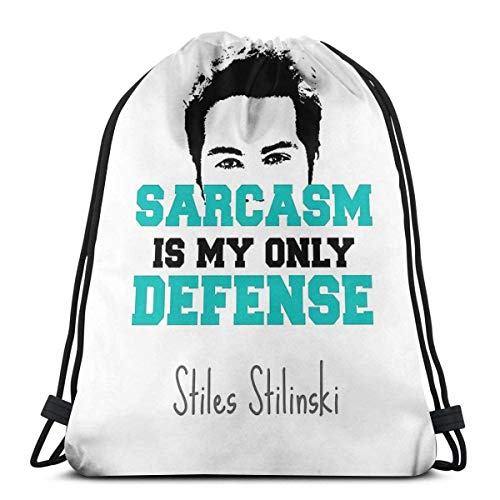 Teen Wolf Stiles Stilinski - Mochila deportiva plegable con cordón