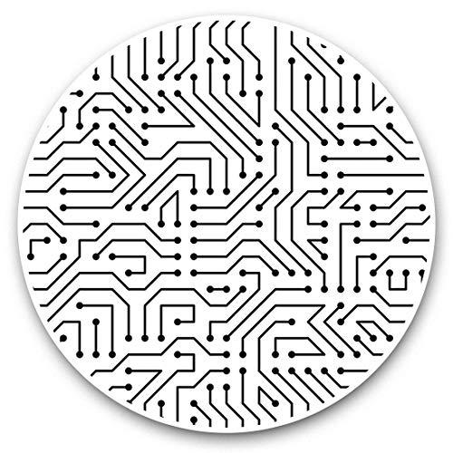 Impresionantes pegatinas de vinilo (juego de 2) 25 cm bw – Placa base para ordenador Gaming PC Divertidas calcomanías para ordenadores portátiles, tabletas, equipaje, reserva de chatarras, neveras, regalo genial #43248