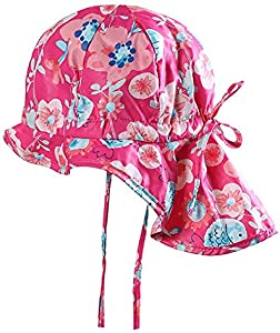 Lazzon Bebé Sombrero de Protección Solar UPF 50+ Niñas Gorra de Playa Verano Transpirable Secado Rápido 2-4 Años