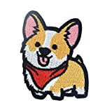 WBNCUAP Corgi/Dachshund/Patch Husky Parches de Bordado para Ropa Lindo Perro Animal Hierro-en Parches en Ropa (Color : 6)
