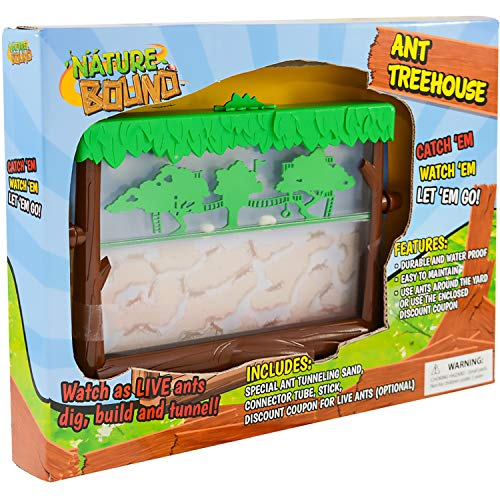 Nature Bound Toys Ant Treehouse Habitat Kit with Sand, Connector Tube, Feeding Stick & Insect Instructions
