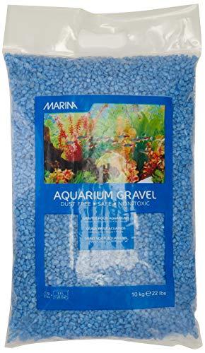 Marina Decorative Aquarium Surf Gravel, 10 Kg, Blue