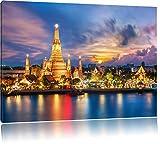 Pixxprint Tempel Bangkok Thailand als Leinwandbild/Größe: