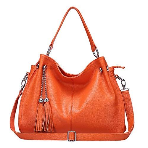 Djkaa handtasche/umhängetaschen 2019 neue marke quaste ledertaschen für frauen luxus mode handtaschen frauen taschen designer umhängetasche damen umhängetasche, orange