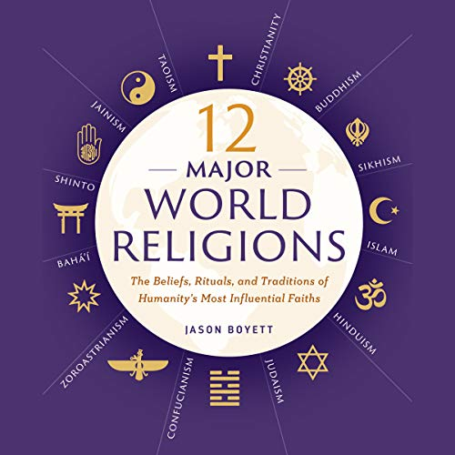12 Major World Religions audiobook cover art