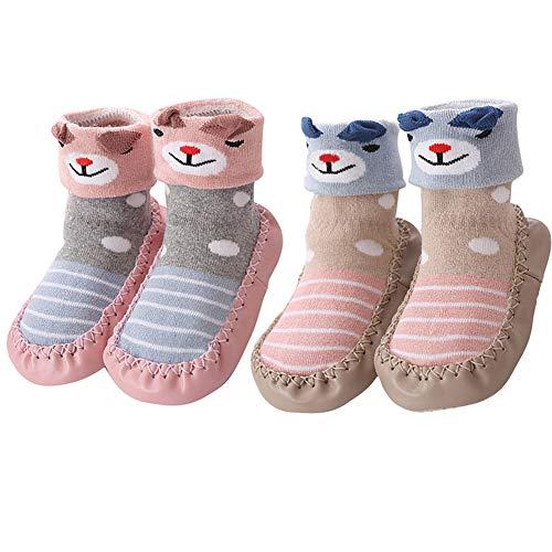 zhenghewyh Calcetines para Bebés Niña Niño Anti Deslizante Zapatillas Primera Infancia (XS: 0-10 mes, style-9)