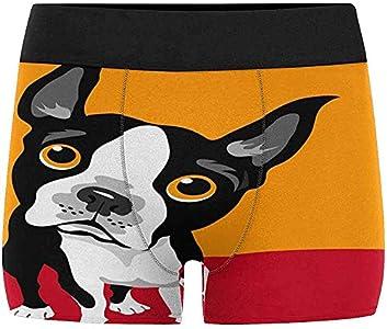 Adamitt Calzoncillos Boxer para Hombre Ropa Interior Boston Terrier Perro