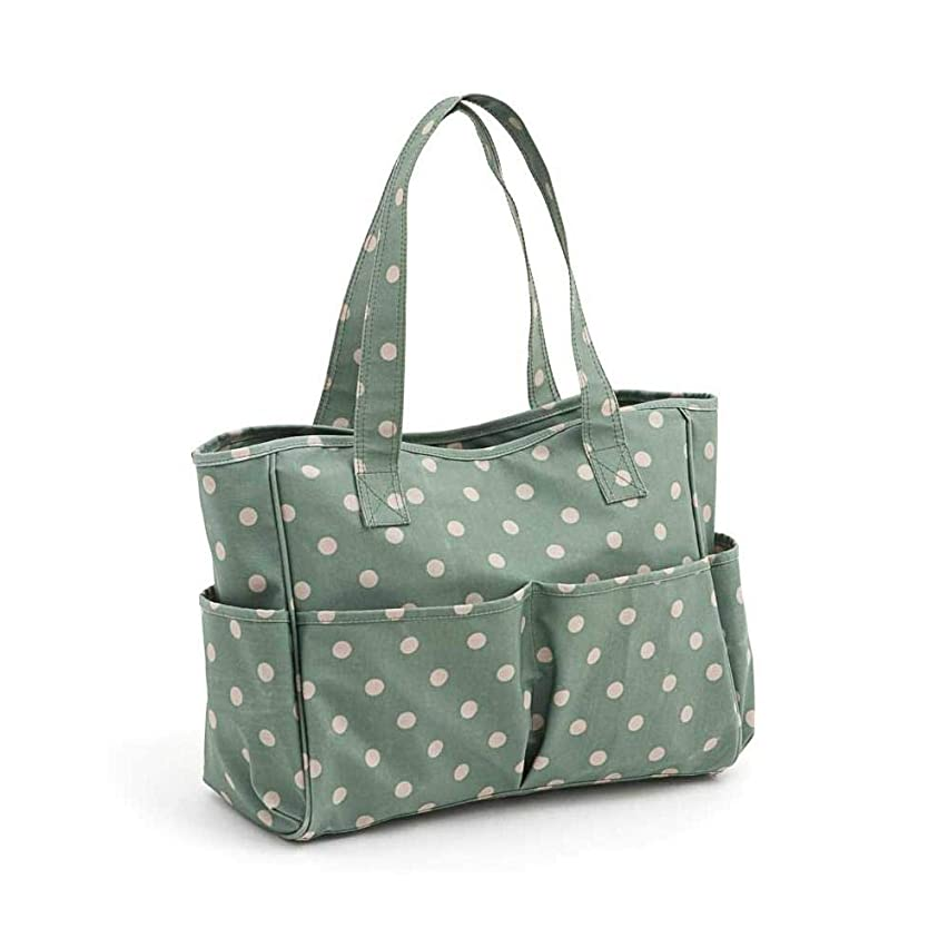 Hobby Gift 'Moss Polka Dot' Matt PVC Craft Bag 12.5 x 39 x 35cm (d/w/h)