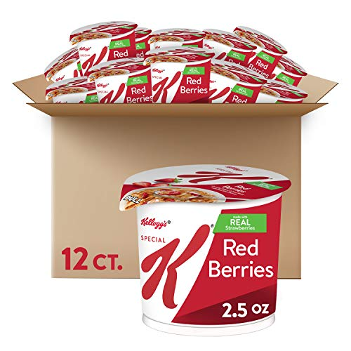 Kellogg#039s Special K Red Berries Cereal in a Cup  Portable Breakfast Bulk Size Pack of 12 25 oz Cups