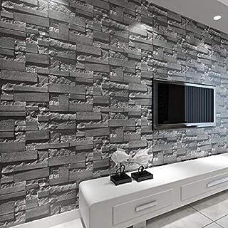 baporee Steen-behang van baksteen-3D gestapeld moderne wandbekleding PVC-rollen behang bakstenen muur achtergrond behang g...