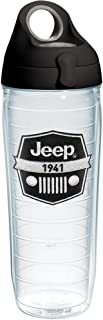 Tervis Jeep Brand - Logo Tumbler with Emblem and Black with Gray Lid 24oz Water Bottle, Clear