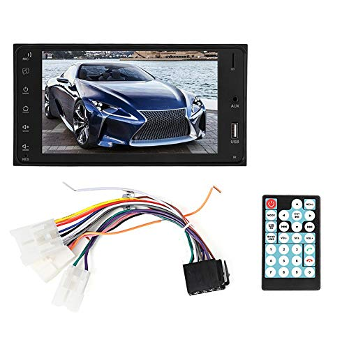 Reproductor multimedia para coche Bluetooth-7 en pantalla táctil Coche MP5 2 Din Reproductor de video musical remoto Pantalla de respaldo GPS