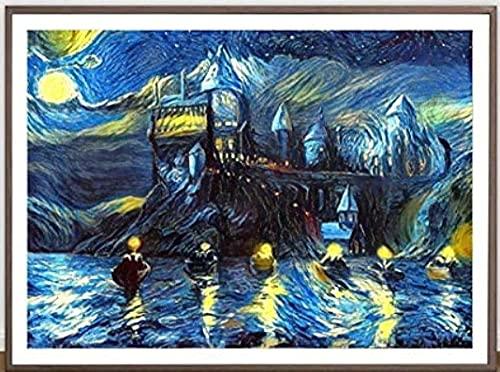 ZYYSYZSH Rompecabezas de 1000 Piezas de cartón, Imagen de ensamblaje, réplica de póster de Van Gogh, Juegos para Adultos, Juguetes educativos (38x26 cm)