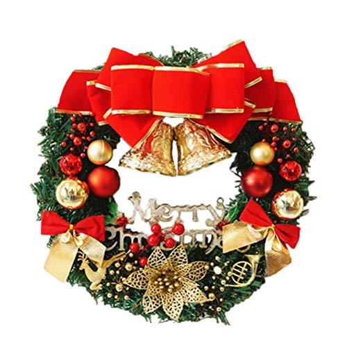 Weesey Guirlande de Noël Clochette Noeuds décorant Guirlande pour la décoration de Noël de Porte de Mur