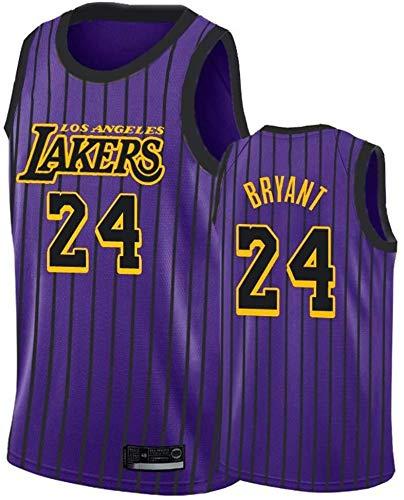 ZSPSHOP Jersey de los Angeles Lakers No.24 Bryant - Camiseta de baloncesto para hombre y mujer, transpirable, bordada (color: B, tamaño: pequeño)