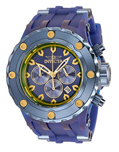 Invicta Reloj de cuarzo Subaqua para hombre con acero inoxidable, correa de silicona, azul, 31 (Modelo: 34264)