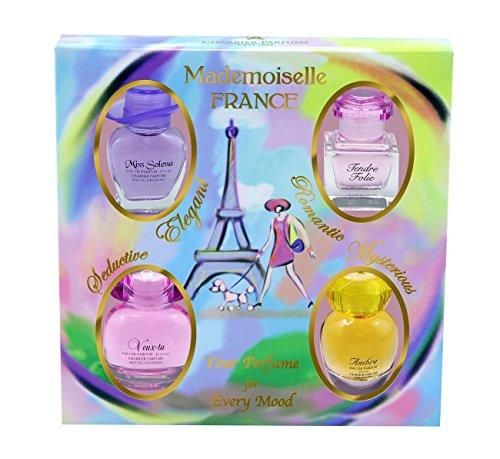 Charrier Parfums Mademoiselle France - Estuche de 4 Eau de Parfums Miniatures Total 44,1 ml