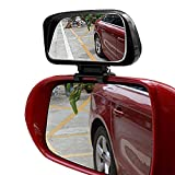 Blind Spot Mirror - 1 Pack Adjustable 360 Degree Rotation Car Auxiliary Convex Wide Angle Mirror Snap Way Clip On Side Rearview Mirror Universal for Cars Truck SUVs