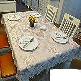 QQT European-style Gartentisch Tischdecke,Tuch Bedecken Das Wohnzimmer Couchtisch Tuch,Längliche Tischdecke-A 130*180cm(51x71inch)
