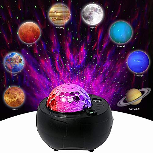 Galaxy Projector Light Music Nebula Star Projector Mutiple Planet Lights for LivingRoom Ceiling,Night Light Ambiance Bedroom,Valentines Day Decor,Home Planetarium (Black)