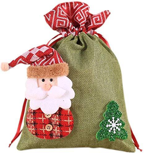 Txiangyang Kerstdecoratie Gift Tassen jute pakket voor kinderen Candy Cookie Bag