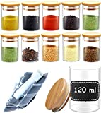 Pot a Epices en Verre - Lot de 10 Bocaux...